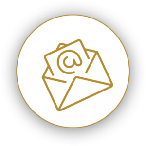 Icon of an envelope with a letter inside